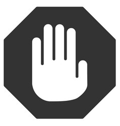 terminate flat icon vector image vector image