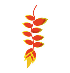 Tropical flower plant icon vector