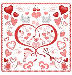 Valentine set vector