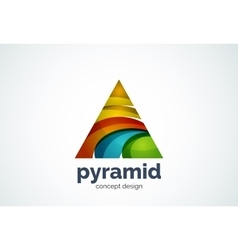 Pyramid logo template triangle cycle concept vector
