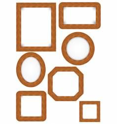 wooden photo frames vector image
