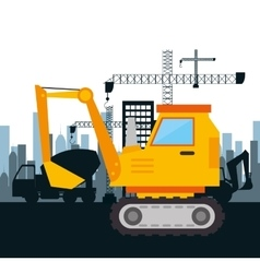Machinery construction design isolated vector