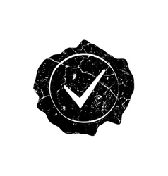 Stamp distressed checkmark vector