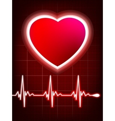 Abstract heart beats cardiogram vector