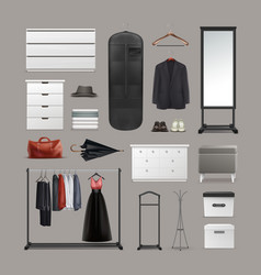 Set of wardrobe stuff vector