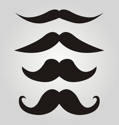 Set of hipster mustache vector
