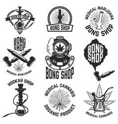 hookah shop bong shop cannabis images for logo vector image