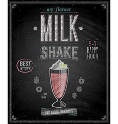 Milkshake chalk vector