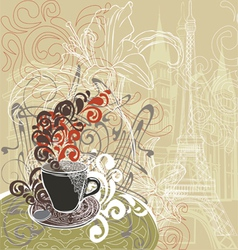 coffee in a Paris cafe vector image