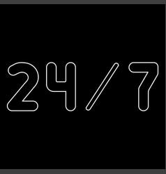 247 service the white path icon vector
