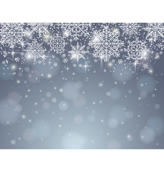 Grey background with snowflakes vector