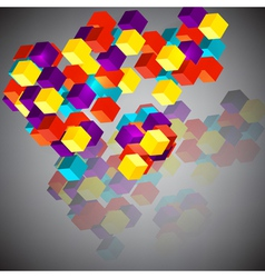 Abstract background with 3d cubes vector