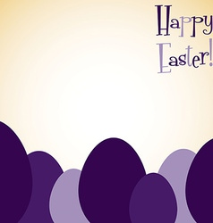 Overlay easter egg card in format vector