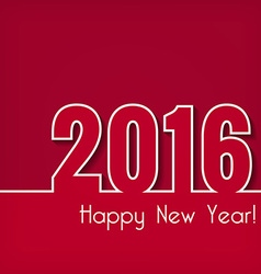 2016 Happy New Year design over red background vector image