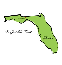State of florida vector