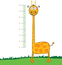 Giraffe cartoon meter vector