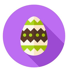 Easter egg with ornament decor circle icon vector