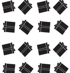 Gift box black white pattern vector
