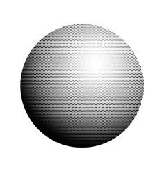 Abstract halftone minimalist ball circle on vector