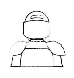 American footbal shoulder pads helmet uniform vector