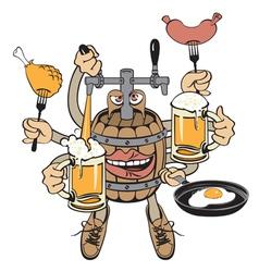 beer monster vector image