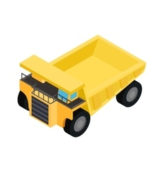 Big truck isometric 3d icon vector