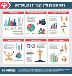 Bodybuilding fitness gym infographics vector