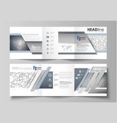 business templates for tri fold square design vector image vector image