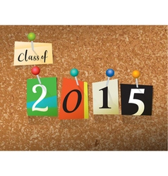 Class of 2015 concept vector