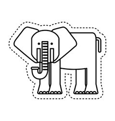 Cute elephant character icon vector
