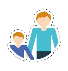 Family father and son relation vector