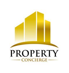 golden property concierge design template vector image
