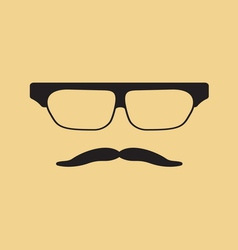 Hipster face3 vector