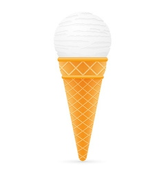 ice cream with cone 01 vector image