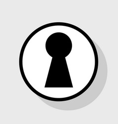 keyhole sign flat black icon vector image vector image