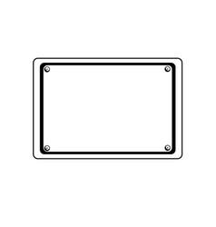 line metal emblem notices and frame design vector image