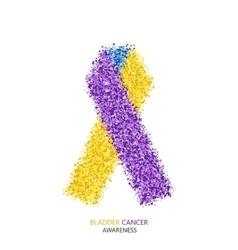 modern BLADDER CANCER awareness circles vector image vector image