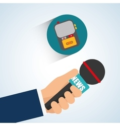 News design Broadcasting concept communication vector image
