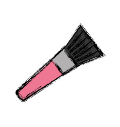 paint brush icon vector image