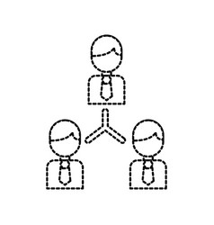 people business team work collaboration vector image