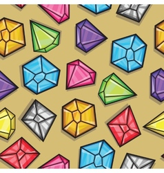 seamless pattern of diamonds vector image