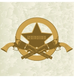 Sheriffs badge-1 vector