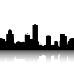 Silhouettes cityscapes vector image