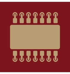The chip icon hardware and processor technology vector