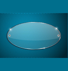transparent acrylic plate on blue perforated vector image