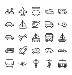Transport Colored Icons 2 vector image