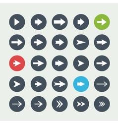white set arrows icon vector image