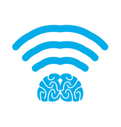 Wi-fi brain wifi mind wireless connection vector
