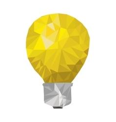 Yellow light bulb abstract geometric vector