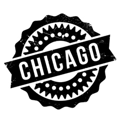 Chicago stamp rubber grunge vector
